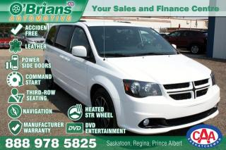 Used 2017 Dodge Grand Caravan GT - Accident Free! w/Command Start, Nav, Leather, Loaded! for sale in Saskatoon, SK
