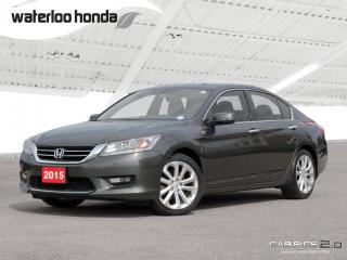 Used 2015 Honda Accord Touring V6 Sold Pending Customer Pick Up...Bluetooth, Back Up Camera, Navigation, and More! for sale in Waterloo, ON
