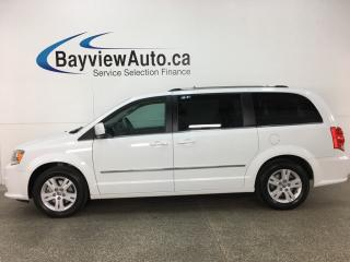 Used 2017 Dodge Grand Caravan Crew STOW 'N GO! HTD LTHR! 3 ZONE CLIMATE! DVD! NAV! U-CONNECT! PWR SLIDERS! for sale in Belleville, ON
