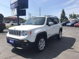 Used 2017 Jeep Renegade Limited NAV, power roof, leather! for sale in Brantford, ON