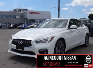 Used 2017 Infiniti Q50 3.0T AWD|TECH PACKAGE|NAVI|LEATHER|BLIND SPOT|360 CAMERA| for sale in Scarborough, ON