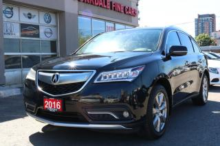 Used 2016 Acura MDX Elite Package Navigation. Camera. DVD. 7 Pasengers for sale in North York, ON