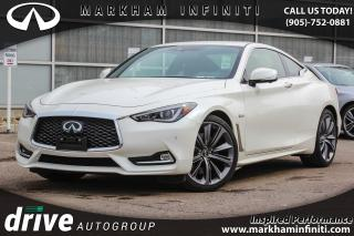 Used 2018 Infiniti Q60 3.0t Red Sport 400 ProActive, Sunroof, BSM, 360 Cam Navi for sale in Unionville, ON