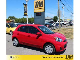 Used 2017 Nissan Micra A/C/ CRUISE/ GR. ÉLECTRIQUE/ BLUETOOTH for sale in Salaberry-de-Valleyfield, QC