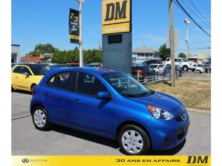 Used 2017 Nissan Micra SV A/C CRUISE GR. ÉLECTRIQUE BLUETOOTH for sale in Salaberry-de-Valleyfield, QC