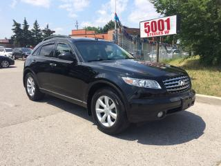 Used 2005 Infiniti FX35 157K,$7888.SAFETY+3YEARS WARRANTY INCLUDED for sale in North York, ON