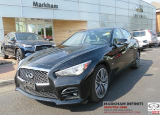 Used 2016 Infiniti Q50 3.0T Sport Tech, Navi, BSM, 360 Cam, Sunroof for sale in Unionville, ON
