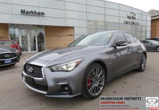 Used 2018 Infiniti Q50 3.0t Red Sport 400 Sensory ProASSIST, Pro Active Pkg, Navi , 360 Cam for sale in Unionville, ON
