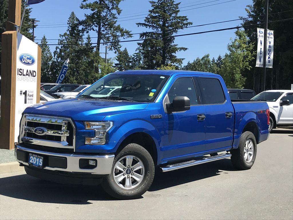 Used 2015 Ford F 150 Xlt Running Boards Satellite Lined Box For Blue