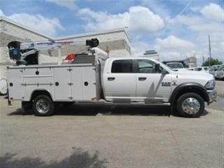 Used 2015 Dodge Ram 5500 CREWCAB 4X4 DIESEL 11 FT SERVICE BOX PLUS CRANE for sale in Richmond Hill, ON