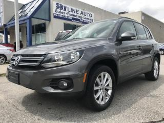 Used 2013 Volkswagen Tiguan 2.0 TSI Comfortline AWD|LEATHER|PANO ROOF|HEATED SEATS|CERTIFIED for sale in Concord, ON