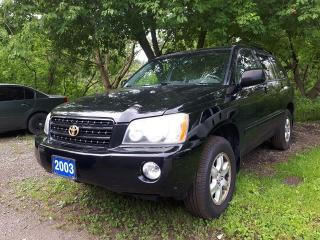 Used 2003 Toyota Highlander Certified,Body as is,*see details for sale in Oshawa, ON