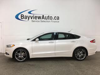 Used 2013 Ford Fusion Titanium - ECOBOOST! AWD! KEYPAD! SUNROOF! HTD LTHR! NAV! SONY! for sale in Belleville, ON