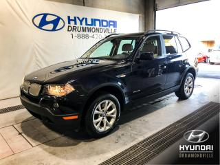 Used 2009 BMW X3 30i X-DRIVE + BAS KM + CUIR + MAGS + WOW for sale in Drummondville, QC