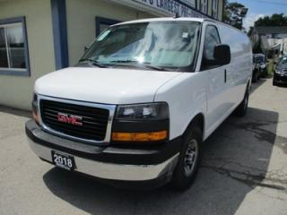 Used 2018 GMC Savana 1-TON CARGO MOVING 2 PASSENGER 6.0L - V8.. EXTENDED-CARGO.. BACK-UP CAMERA.. TOW SUPPORT.. AIR CONDITIONING.. for sale in Bradford, ON