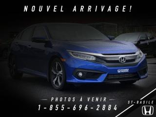 Used 2016 Honda Civic TOURING + NAVI + TOIT + CUIR for sale in St-Basile-le-Grand, QC