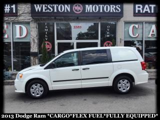 Used 2013 Dodge Ram Van CARGO* FLEX FUEL* SHELVING* FULLY EQUIPPED for sale in York, ON
