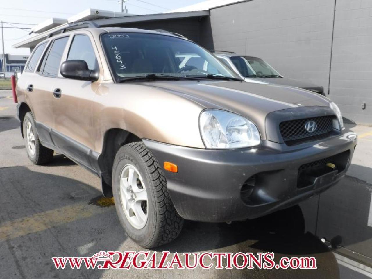 Photo of Gold 2003 Hyundai SANTA FE GL 4D UTILITY