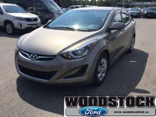 Used 2016 Hyundai Elantra - Low Mileage for sale in Woodstock, ON