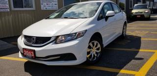 Used 2013 Honda Civic LX-BLUETOOTH-HEATED SEATS-1 OWNER OFF LEASE for sale in Tilbury, ON