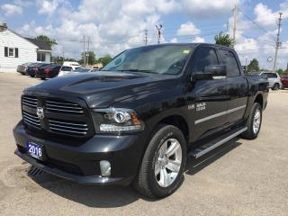 Used 2016 RAM 1500 SPORT * HEATED & COOLED SEATS * NAVIGATION * LEATHER * SUNROOF * BED LINER * for sale in London, ON