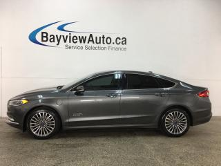 Used 2017 Ford Fusion Energi SE Luxury - KEYPAD! TINT! HTD LTHR! REVERSE CAM! SYNC! for sale in Belleville, ON