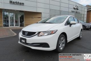 Used 2014 Honda Civic LX Heated Seats, Bluetooth, Cruise Control for sale in Unionville, ON
