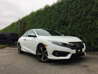 Used 2017 Honda Civic COUPE TOURING **LOW KMS** LEATHER HEATED FT SEATS + NAVI + SUNROOF + SIDE VIEW/BACK-UP CAMERA for sale in Surrey, BC