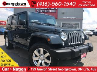 Used 2017 Jeep Wrangler Unlimited Sahara LEATHER| CHROME RIMS| TWO TOPS| for sale in Georgetown, ON