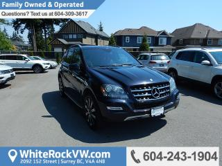 Used 2011 Mercedes-Benz ML-Class BC Driven, Power Moonroof, Radio Data System & Heated Front Seats for sale in Surrey, BC