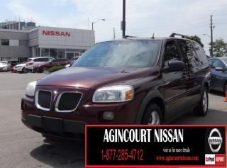 Used 2008 Pontiac Montana Sv6 Uplevel LEATHER|DVD|AS-IS SUPER SAVER for sale in Scarborough, ON