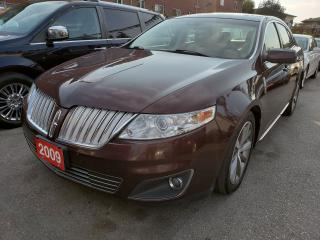 Used 2009 Lincoln MKS AWD/NAV/BACK-UP Cam/Bluetooth/Leather/Sunroof/USB for sale in Scarborough, ON