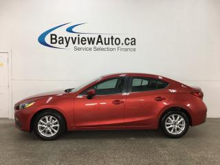 Used 2015 Mazda MAZDA3 GS - PUSH START! REVERSE CAM! A/C! BLUETOOTH! CRUISE! for sale in Belleville, ON