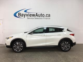 Used 2017 Infiniti QX30 Base - TURBO! PANOROOF! HTD LTHR! NAV! BOSE! for sale in Belleville, ON