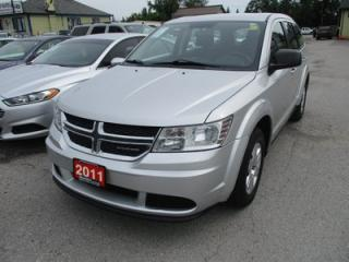Used 2011 Dodge Journey FUEL EFFICIENT SE MODEL 5 PASSENGER 2.4L - DOHC.. TOUCH SCREEN.. CD/AUX/USB INPUT.. KEYLESS ENTRY & START.. for sale in Bradford, ON