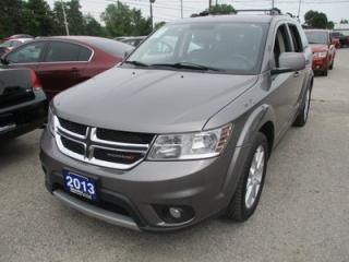 Used 2013 Dodge Journey FAMILY MOVING CREW EDITION 7 PASSENGER 3.6L - V6.. BENCH & 3RD ROW.. HEATED SEATS.. BACK-UP CAMERA.. REAR DVD PLAYER.. ALPINE AUDIO.. for sale in Bradford, ON