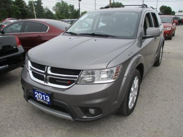 2013 Dodge Journey FAMILY MOVING CREW EDITION 7 PASSENGER 3.6L - V6.. BENCH & 3RD ROW.. HEATED SEATS.. BACK-UP CAMERA.. REAR DVD PLAYER.. ALPINE AUDIO..