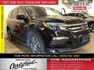 Used 2016 Honda Pilot Touring + CERTIFIED 7YRS/160000KMS! for sale in Vancouver, BC