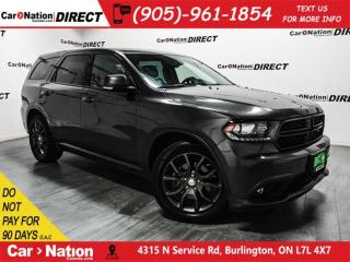 Used 2017 Dodge Durango R/T| AWD| SUNROOF| BLIND SPOT DETECTION| for sale in Burlington, ON