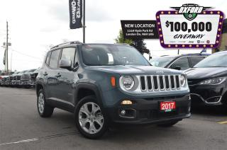 Used 2017 Jeep Renegade Limited - 4x4, Clean Car Proof, Bluetooth, Back Up for sale in London, ON