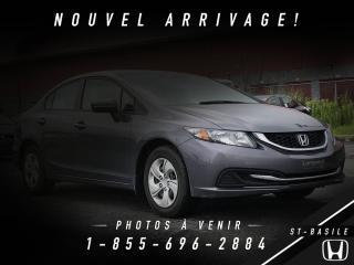 Used 2014 Honda Civic GARANTIE + BAS KILO + BLUETOOTH for sale in St-Basile-le-Grand, QC
