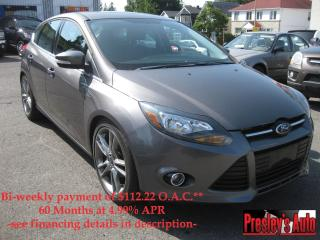 Used 2012 Ford Focus Titanium AC Sunroof Hatchback Htd Leather Nav for sale in Ottawa, ON