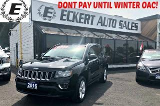 Used 2016 Jeep Compass HIGH ALTITUDE 4X4 WITH LEATHER / SUNROOF for sale in Barrie, ON