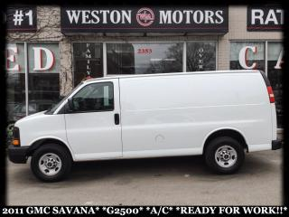 Used 2011 GMC Savana 2500 A/C*READY FOR WORK!!* for sale in York, ON