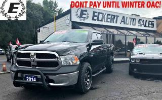 Used 2014 RAM 1500 ST QUAD CAB 4X4 WITH CUSTOM RIMS / TONNEAU COVER for sale in Barrie, ON
