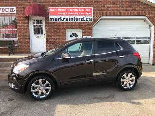 Used 2014 Buick Encore Leather Bluetooth Sunroof Chrome Wheels Back up Ca for sale in Bowmanville, ON