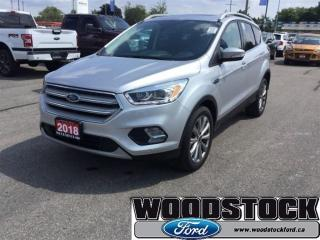 Used 2018 Ford Escape Titanium CAP Unit - 3.99 % FOR 84 MOS OAC for sale in Woodstock, ON