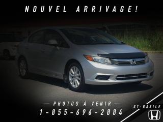 Used 2012 Honda Civic EX + TOIT + BLUETOOTH + MAGS + SUPRE PRO for sale in St-Basile-le-Grand, QC