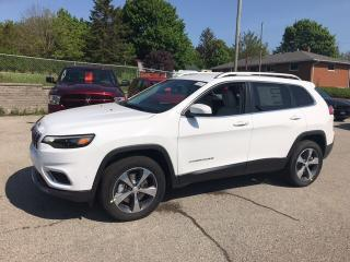 New 2019 Jeep Cherokee Limited | Leather | Back-Up Camera | Remote Start for sale in Mitchell, ON