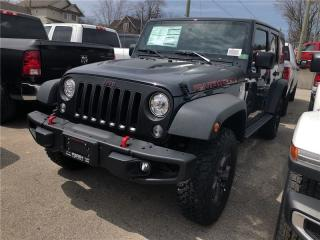 New 2018 Jeep Wrangler JK Unlimited Rubicon Edition | Leather | Navigation | for sale in Mitchell, ON